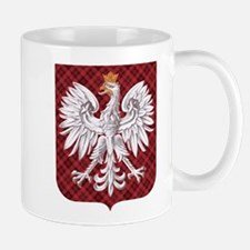 Polish Eagle Plaid Crest Mug