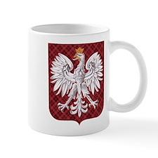 Polish Eagle Plaid Crest Small Mug