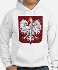Polish Eagle Plaid Crest Hoodie