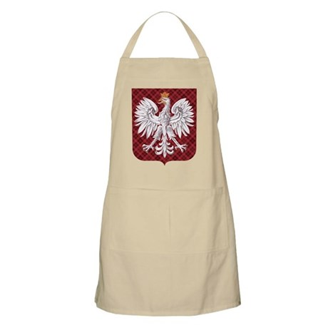 Polish Eagle Plaid Crest Apron