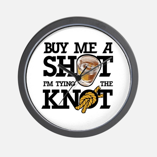 Buy Me A Shot Wall Clock