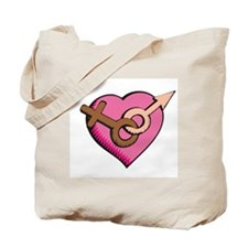 Symbol of Love (WMBW) Tote Bag