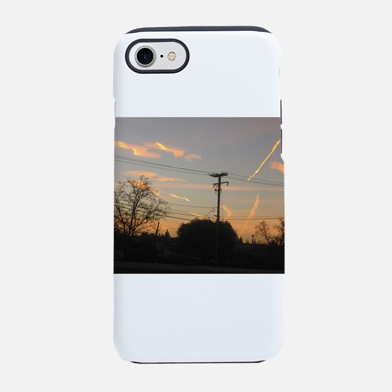Sunrise with streaks from plan iPhone 7 Tough Case