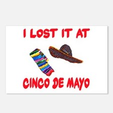I Lost it at Cinco de Mayo Postcards (Package of 8