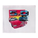 Ford mustang Fleece Blankets