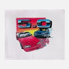 Mustang 5.0 Throw Blanket