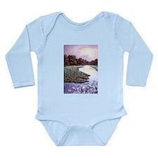 Wekiva River At Sunset Long Sleeve Infant Bodysuit