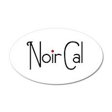 Noir Cal 38.5 x 24.5 Oval Wall Peel