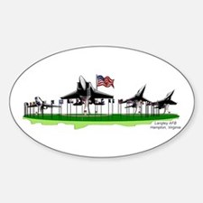 Planes on a Stick/Oval Decal