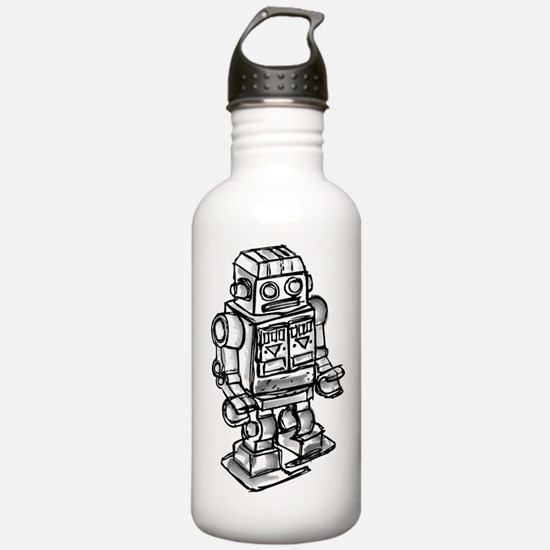 VINTAGE TOY ROBOT Sports Water Bottle