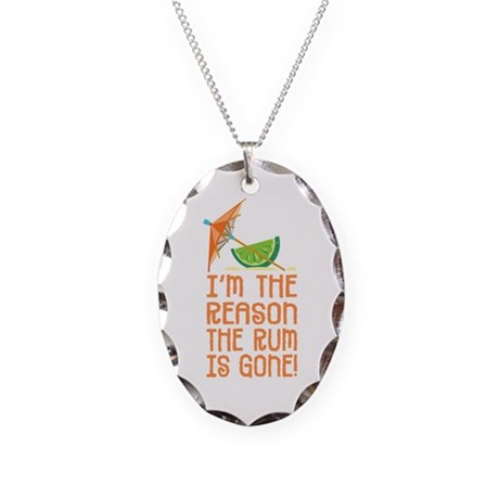 Rum Gone - Necklace Oval Charm
