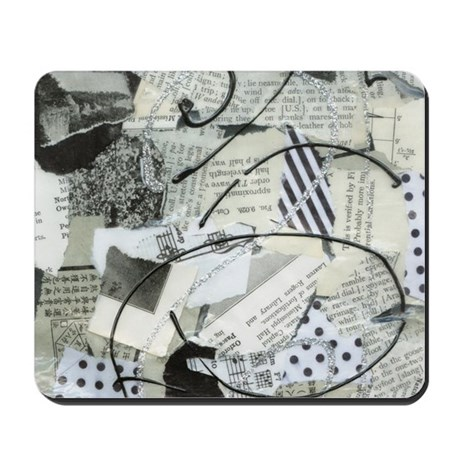 Black and White Crazy Paper Mousepad