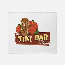 Tiki Bar is Open II - Throw Blanket