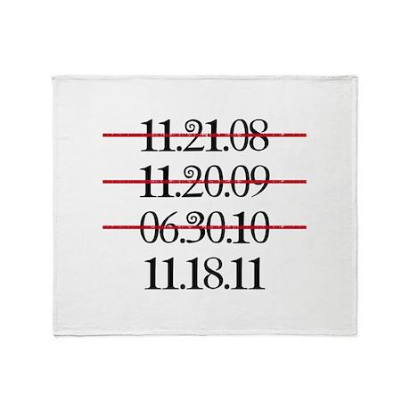 Release Date Throw Blanket