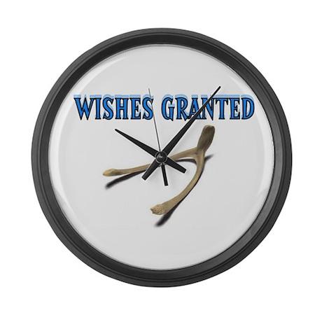 MAKE A WISH Large Wall Clock