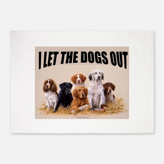HUNTING DOGS 5'x7'Area Rug