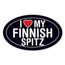 I Love My Finnish Spitz Oval Sticker/Decal