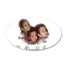 ZRS Adorable Trio 22x14 Oval Wall Peel