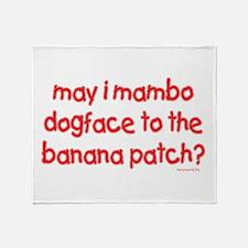 Mambo? Throw Blanket