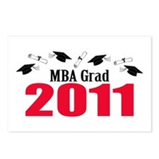 MBA Grad 2011 (Red Caps And Diplomas) Postcards (P