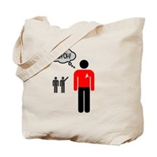 Uh Oh Redshirt Tote Bag