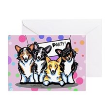 Corgi Happy Birthday Greeting Cards (Pk of 10)