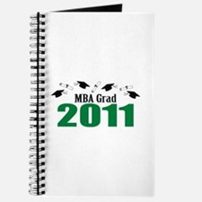MBA Grad 2011 (Green Caps And Diplomas) Journal