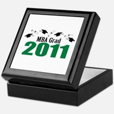 MBA Grad 2011 (Green Caps And Diplomas) Keepsake B