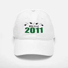 MBA Grad 2011 (Green Baseball Baseball Caps And Diplomas) Baseball Baseball Cap