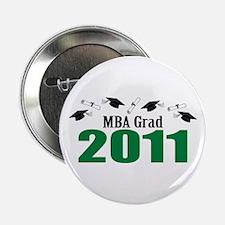 "MBA Grad 2011 (Green Caps And Diplomas) 2.25"" Butt"