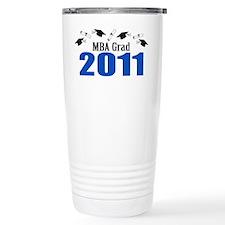 MBA Grad 2011 (Blue Caps And Diplomas) Travel Mug