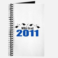 MBA Grad 2011 (Blue Caps And Diplomas) Journal