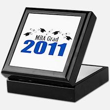 MBA Grad 2011 (Blue Caps And Diplomas) Keepsake Bo