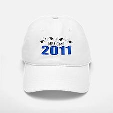 MBA Grad 2011 (Blue Baseball Baseball Caps And Diplomas) Baseball Baseball Cap