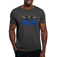 MBA Grad 2011 (Blue Caps And Diplomas) T-Shirt