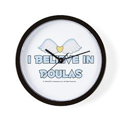 I Believe in Doulas Wall Clock