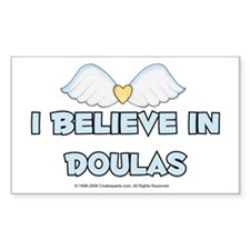I Believe in Doulas Rectangle Decal
