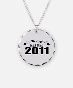 MBA Grad 2011 (Black Caps And Diplomas) Necklace C