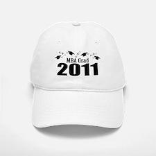 MBA Grad 2011 (Black Baseball Baseball Caps And Diplomas) Baseball Baseball Cap