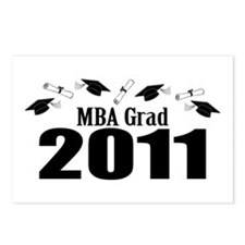 MBA Grad 2011 (Black Caps And Diplomas) Postcards