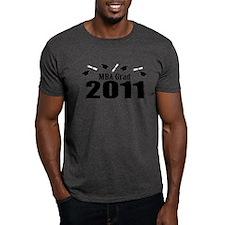 MBA Grad 2011 (Black Caps And Diplomas) T-Shirt