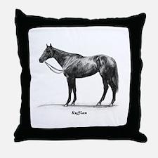 "Thoroughbred ""Ruffian"" Throw Pillow"