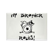My Brother Rocks Drums Rectangle Magnet (10 pack)