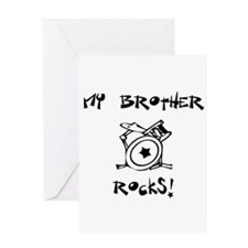 My Brother Rocks Drums Greeting Card