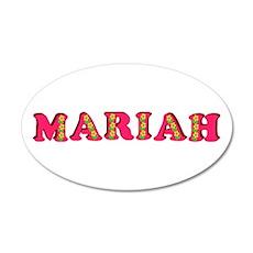 Mariah 38.5 x 24.5 Oval Wall Peel