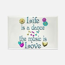 Live Dance Love Rectangle Magnet (10 pack)