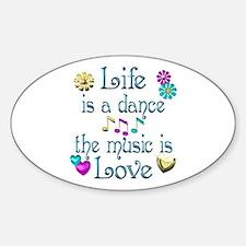 Live Dance Love Sticker (Oval)