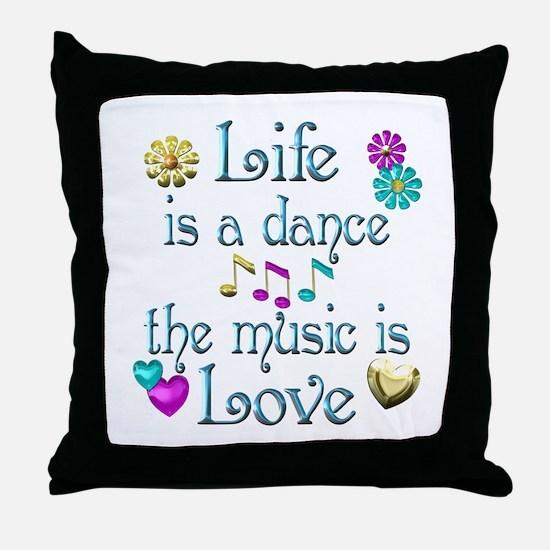Live Dance Love Throw Pillow