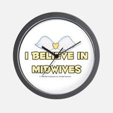 I believe in Midwives Wall Clock