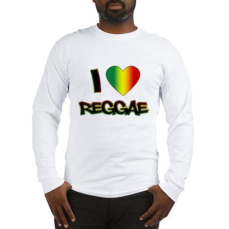 """I """"Love"""" Reggae Long Sleeve T-Shirt"""